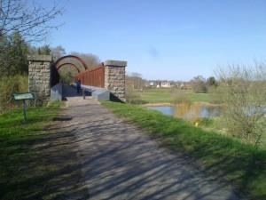 Gammel jernbanebro ved Langå